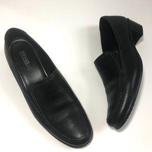 Ecco Black Leather Slip On Loafer